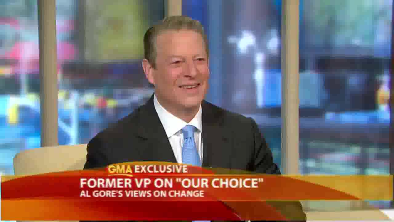 Al Gore talks about his new book Vision of the Future on American TV.