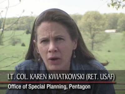 t. Col. Karen Kwiatkowski explains the locations of America oil bases overseas.