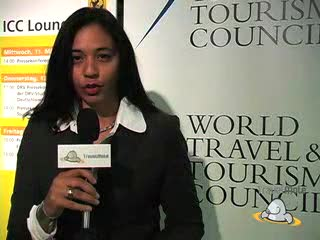 Valere Tjolle interviews Eunice Mahoro, Uganda Wildlife Authoritys Director of Tourism at the worlds biggest travel show
