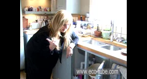 Helen Lederer opens her kitchen cabinet and checks out the best alternatives from Ecover