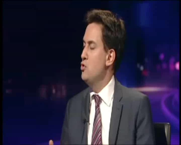 The direct of Age of Stupid discusses the upcoming Copenhagen Climate Change summit on BBC Newsnight with government minister Ed Miliband