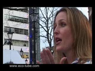 Actress Gillian Anderson talks about the third runway at Heathrow