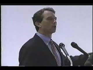 n this speech at the University of Charleston WV in 2002 Kennedy talks about his environmental activism and how fighting corporate polluters and making government enforce laws can stop the destruction of natural resources which he says are God-given