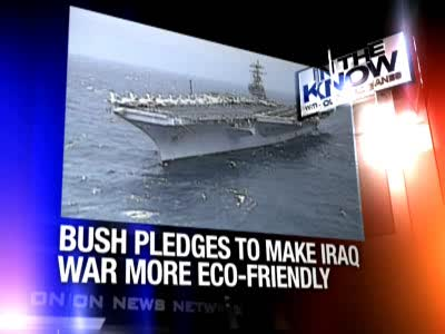 Onion News report on the ways the iraq could be made eco-friendly