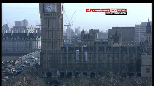 Activists on the roof of the houses of parliament in London protesting at the governments plan for a third runway